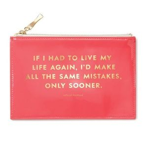 Kate Spade Same Mistakes Pink Pencil Pouch